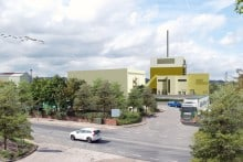Artist's impression of the Templeborough Biomass Plant set to open in Rotherham