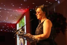 Sylvia La Porte speaking at Simple Waste Solutions' charity ball